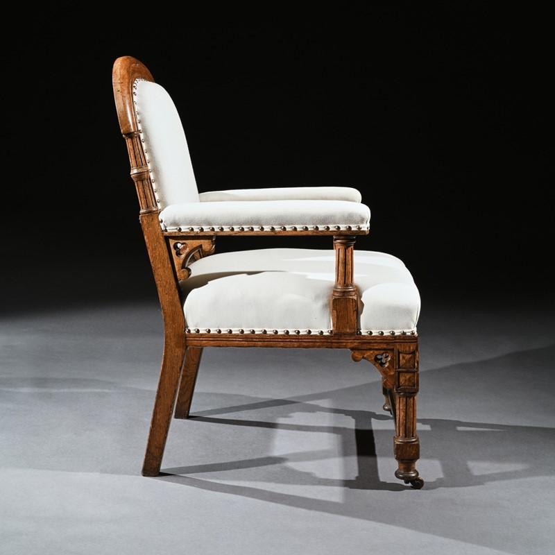 19th C Oak Gothic Armchair, G Tilley Of Birmingham-loveday-square03-large-main-637393162605946445.jpg