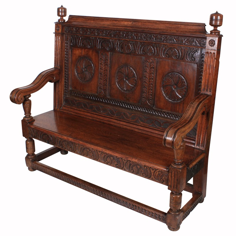 Carved Solid Oak Hall Bench-lt-antiques-IMG_1266-main-636627597162264581.jpg