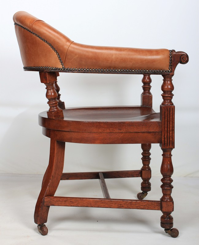 Pair of Oak & Leather Library Captains Desk Chairs-lt-antiques-IMG_8994-main-636609544312405748.jpg
