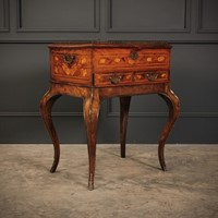 Dutch Marquetry Walnut Cabinet