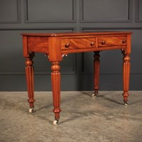 Small Flame Mahogany Side Table