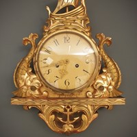Gilt Cartel Wall Clock