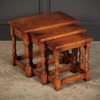 Solid Ipswich Oak Nest of 3 Tables