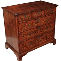 Early 18th Century Mulberry & Walnut Chest of Draw
