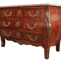 19th Century French Kingwood Marble top Commode Ch