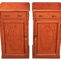 Pair of Regency Satinwood Bedside Cabinets