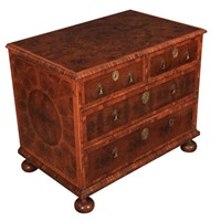 17th Century Oyster Veneered  Chest of Drawers