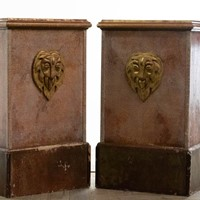 Large Painted Plinths / Pedestals