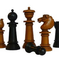 """Edinburgh Upright Chess Set"", circa 1860"