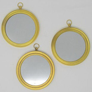 Set of ormolu mirrors