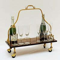 Aldo Tura bottle trolley