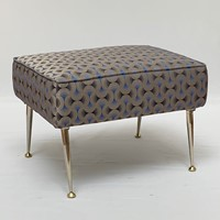 Stool with brass legs