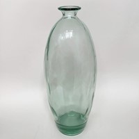 Tall glass bottle vase