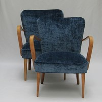 Pair of Italian bentwood armchairs