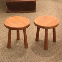 French Pair of Stools, 1960s