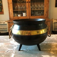 A brass and iron Witches Cauldron