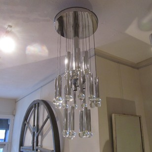 A three tier Sciolari chandelier