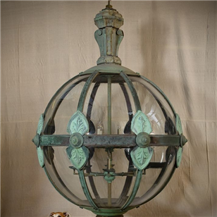Enormous (2.5m) Classical Copper Globe Lantern
