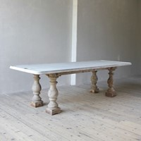 A 19th century creamery table