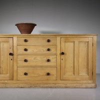Large Scale Cumbrian Antique Pine Dresser
