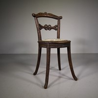 19th Century Black Forest Antique Side Chair