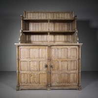 Rare 19thC Antique Oak Chiffonier by Henry Woodyer