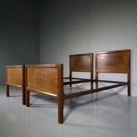 Pair of Single Antique Oak Beds by Gordon Russell