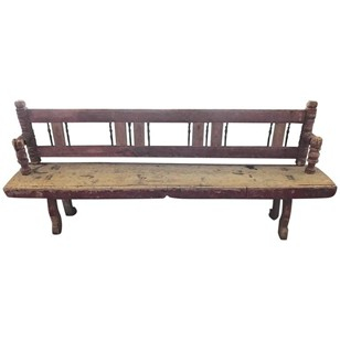 18th Century Folding Bench, Original Painting