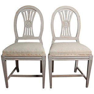 Pair of 18th Century Swedish Gustavian Chairs
