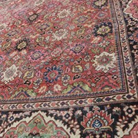 Antique Allover Design Unusual Square Mahal Carpet