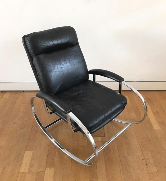 1970s Rocking Chair in Black Leather-moioli-gallery-1970s rocking chair 5_main_636407380668132725.jpg