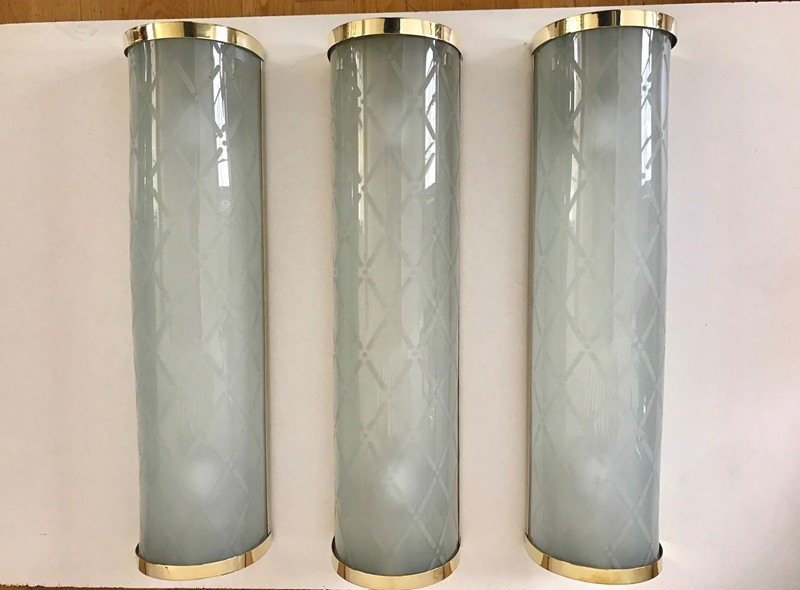 Large Italian Deco' Wall Lights by  Brusotti-moioli-gallery-3 appliques vetro 1940 grandi 1-main-636682031577820326.jpg