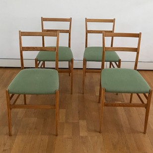Set of 4 Leggera Chairs by Gio Ponti for Cassina