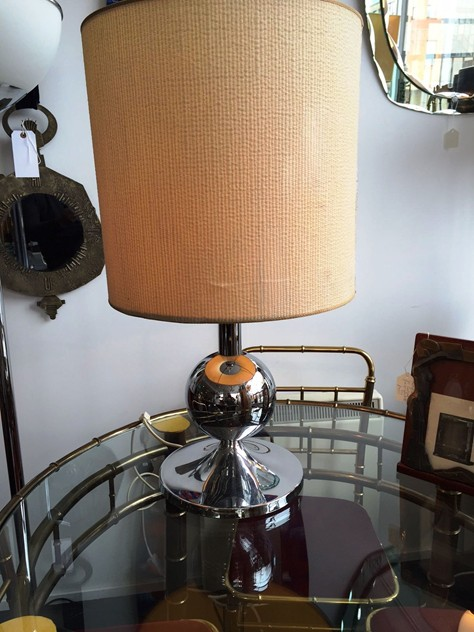 1970's Chrome lamp with original shade -moioli-gallery-70's chrome lamp london 3_main_635958143937234041.JPG