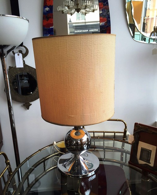 1970's Chrome lamp with original shade -moioli-gallery-70's chrome lamp london_main_635958144103226553.JPG