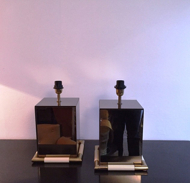 1970's Pair of Tommaso Barbi Table Lamps-moioli-gallery-Coppia Tommaso barbi specchiate 4_main_636202625910829365.JPG