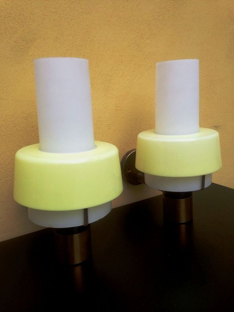1950's Rare Pair Of Wall Lights by Stilnovo-moioli-gallery-appliques stilnovo gialle. 2_main_635958019041498124.JPG