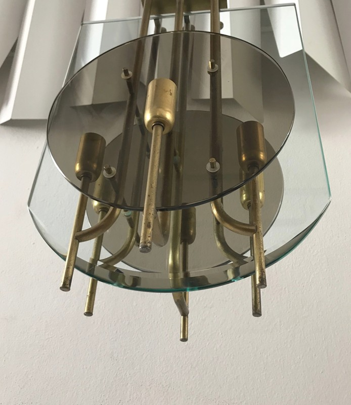 1960s Brass and Glass Italian Ceiling Light -moioli-gallery-ceiling light 60s 32 dischi vetro fume' 10-main-636661453067601262.jpg
