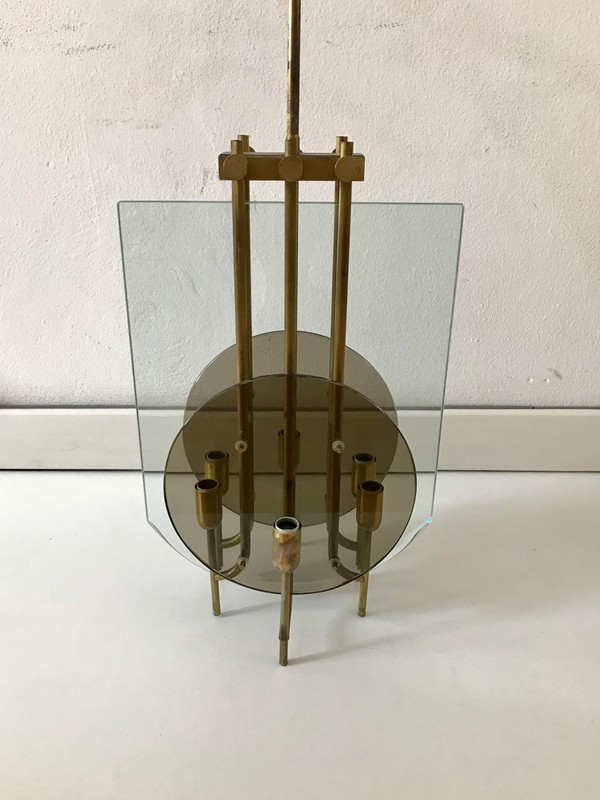 1960s Brass and Glass Italian Ceiling Light -moioli-gallery-ceiling light 60s 32 dischi vetro fume' 3-main-636661452431556646.jpg