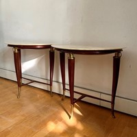 1940s Half Round Bedside Tables-Side Tables