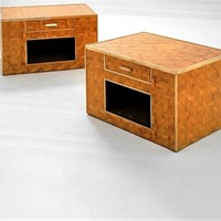 1970s Pair of Bed Side tables by Vivai Del Sud