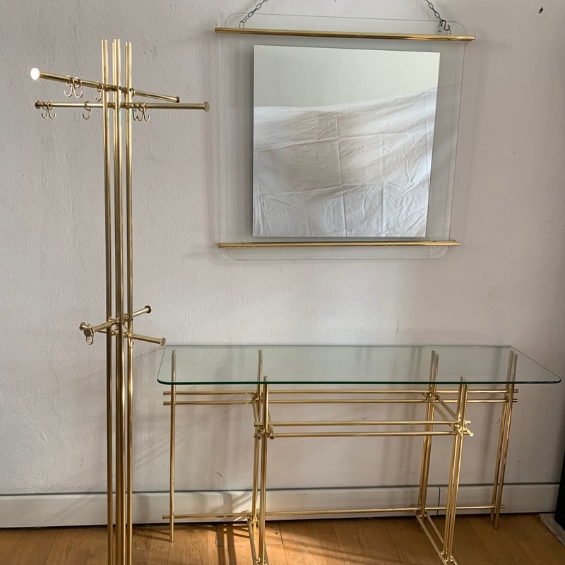 1970s Console, Mirror and Coat Hanger by Zevi-moioli-gallery-console-mirror-coathanger-brass1-main-636961021864060104.jpg
