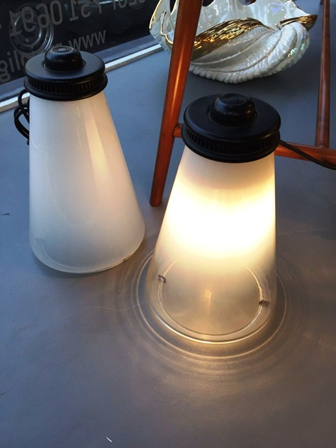 1970's Conetto Lamps by Ezio Didone for Arteluce-moioli-gallery-coppia conetto arteluce. 4_main_635942678302948790.JPG