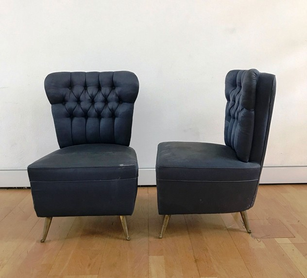 1950's Pair of Low Side Chairs by ISA -moioli-gallery-coppia poltroncine blu  ISA da camera 1_main_636363333922314754.JPG