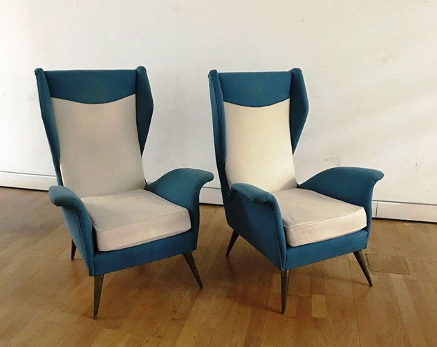 1950s Pair of Armchairs with Very High Back-moioli-gallery-coppia poltrone alte blu e bianche  Davide prof 75 larg 80 h schiena 105 h seduta 43 prof 50 larg 42_main_636486169960024293.JPG