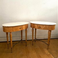 Midcentury Pair of Italian - Side/Bed Side Tables