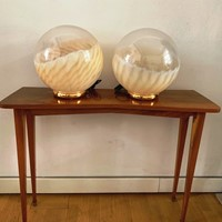 1970s Pair of Murano Glass Table Lamps