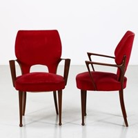 1950s Pair of  Jannace & Kovacs  Sidechairs