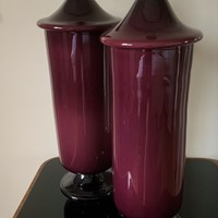 Pair of 50s Murano Glass Vases/Urns/Jars