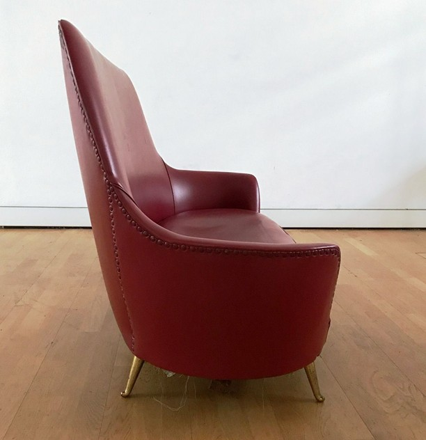 1950s Two Seater Sofa by Isa -moioli-gallery-divanetto ISA rosso asta 3_main_636488769958126499.JPG